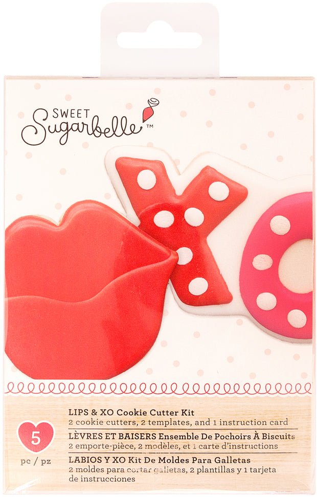 Sweet Sugarbelle Specialty Cookie Cutter Set  2/Pkg-Lips & XO