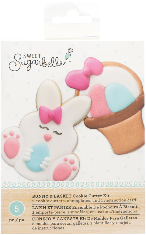 Sweet Sugarbelle Cookie Cutter Kit 5pcs-Bunny & Basket