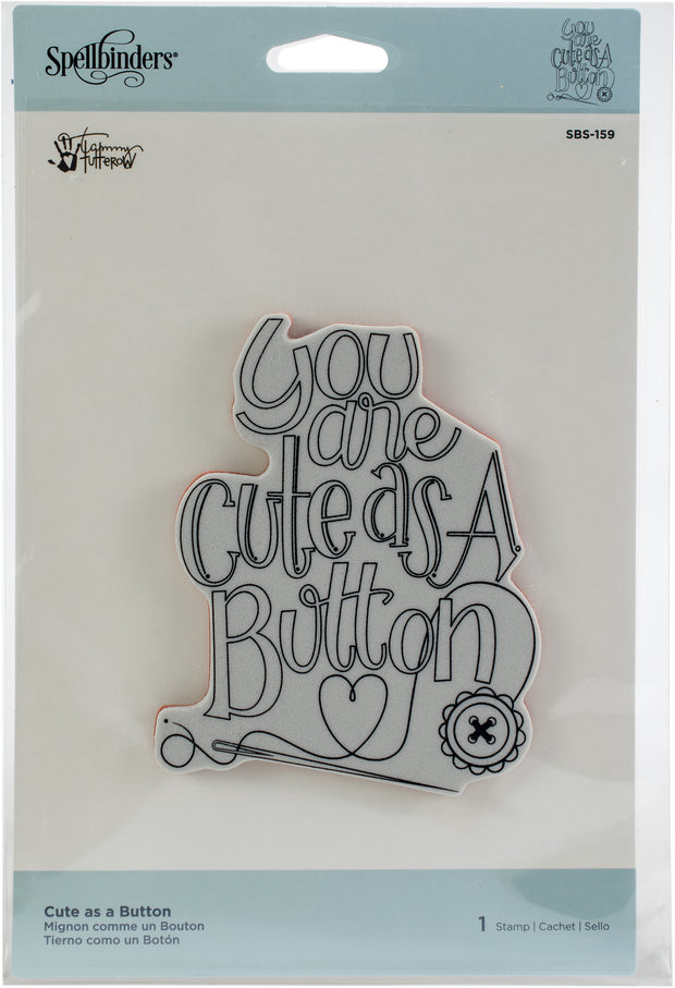 Spellbinders Stamps-Cute As A Button