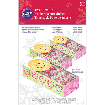 Sliding Treat Boxes 3/Pkg-Gingerbread Boy
