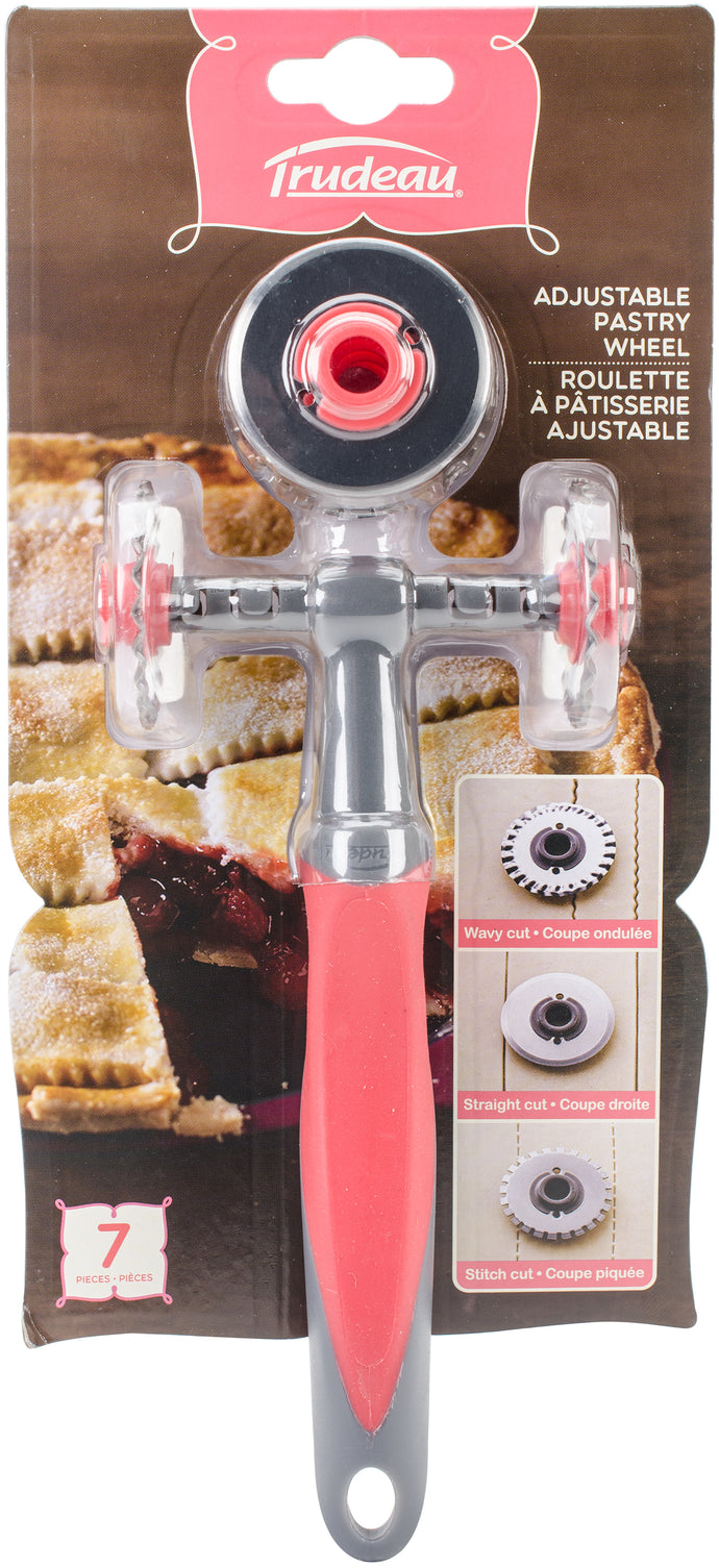 Adjustable Pastry Wheel-Fuchsia/Grey
