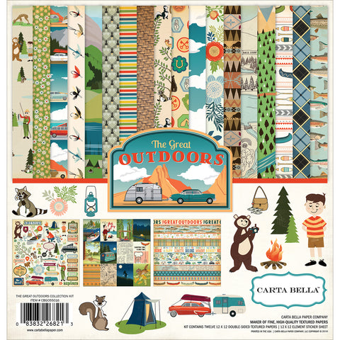 "Carta Bella Collection Kit 12""X12""-Great Outdoors"