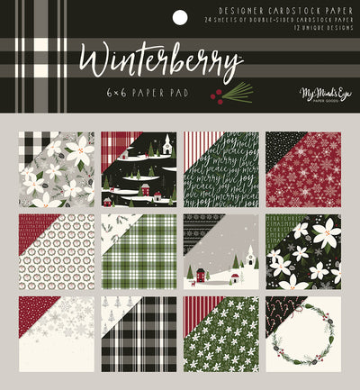 "My Mind's Eye Double-Sided Paper Pad 6""X6"" 24/Pkg-Winterberry, 12 Designs/2 Each"