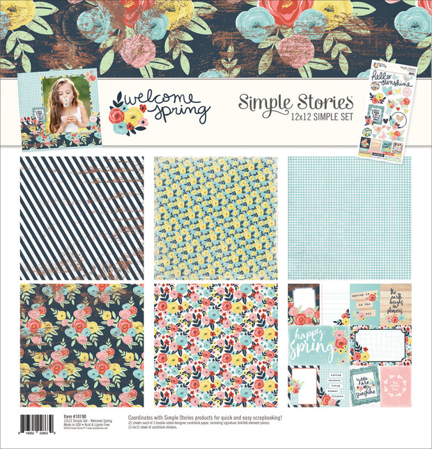 "Simple Stories Simple Sets Collection Kit 12""X12""-Welcome Spring"