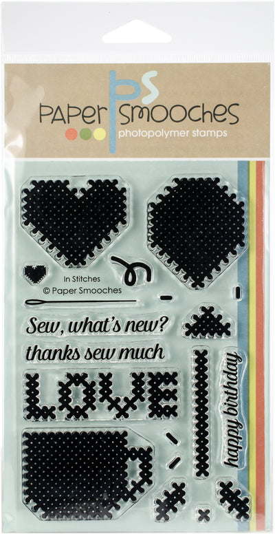 "Paper Smooches Clear Stamps 4""X6"" -In Stitches"