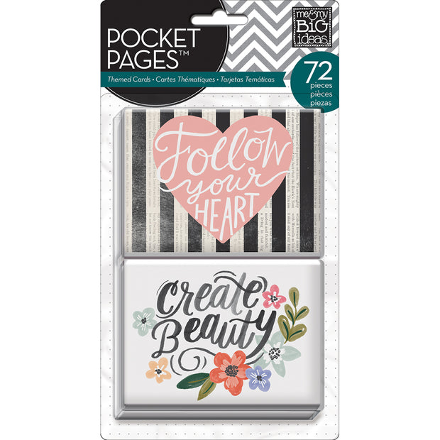 Me & My Big Ideas Pocket Pages Themed Cards 72/Pkg-Fresh Floral