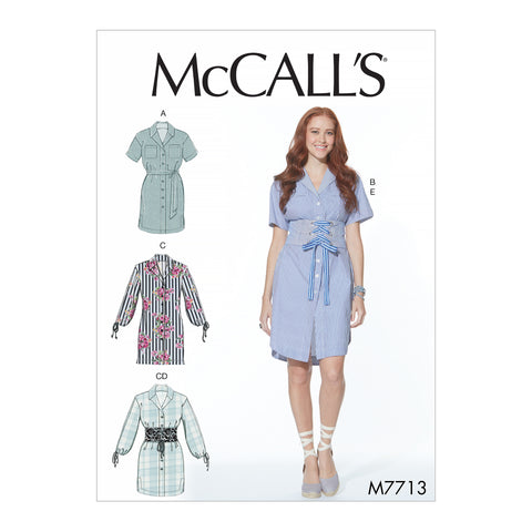 McCalls Misses Dresses & Belt-L-XL-XXL