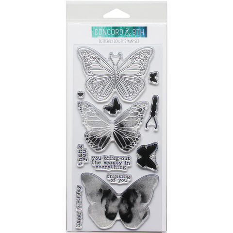 "Concord & 9th Clear Stamps 4""X8""-Butterfly"