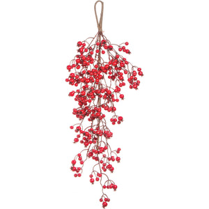 Berry Hanging Spray 5.5'-Red
