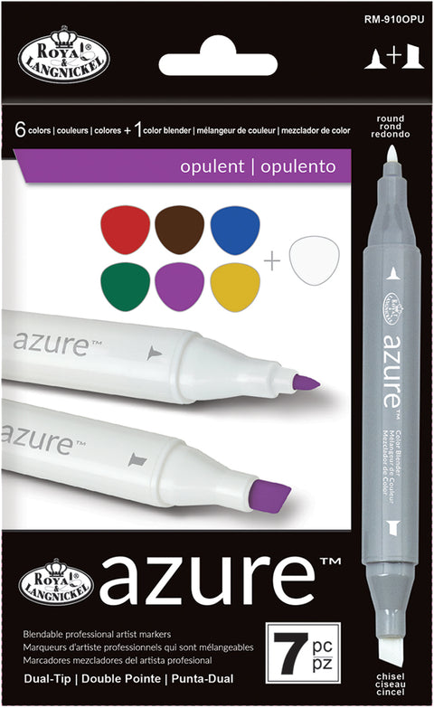 Azure Marker Set 7/Pkg-Opulent Colors
