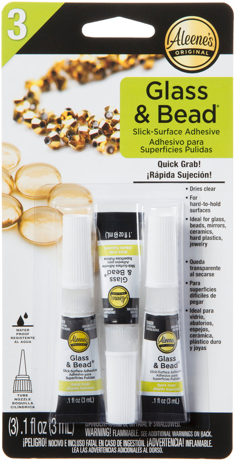 Aleene's Glass & Bead Glue 3/Pkg-
