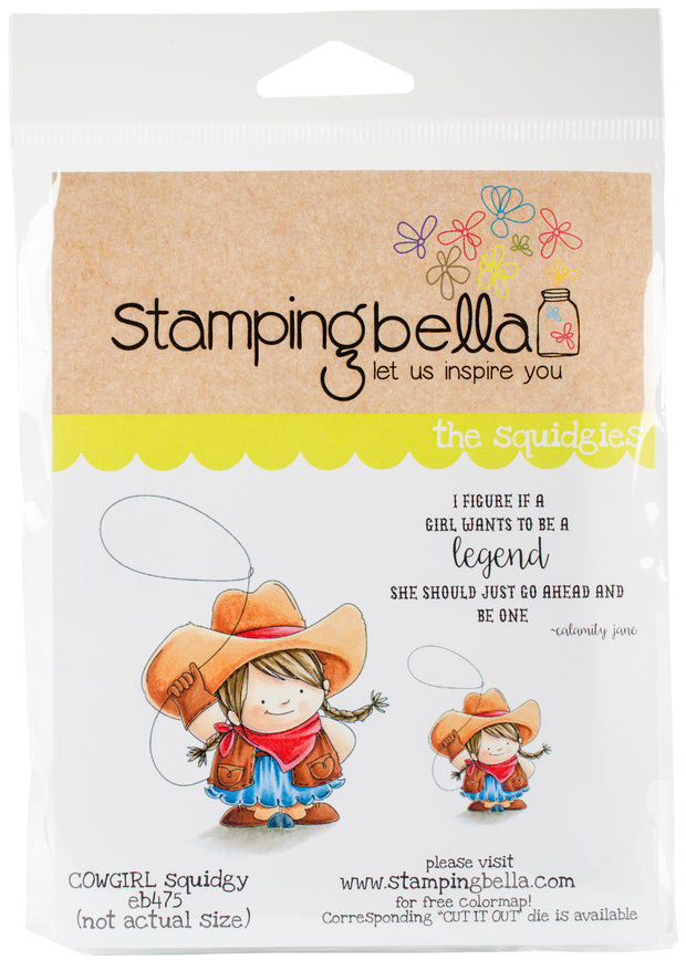 Stamping Bella Cling Stamps-Cowgirl Squidgy