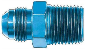 "Aeroquip FCM2008 Blue Anodized Aluminum -08AN Flare to 1/2"" NPT Pipe Fitting"