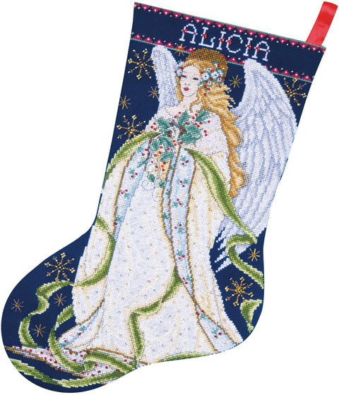 "Design Works Counted Cross Stitch Kit 17"" Long-Holly Angel (14 Count)"