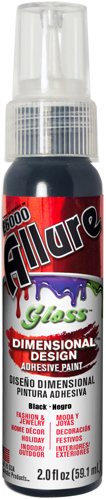 Allure Gloss Dimensional Design Adhesive Paint 2oz-Black