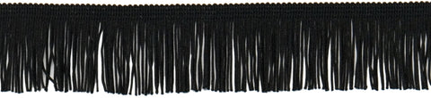 "Expo Chainette Fringe 2""X20yd-Black"