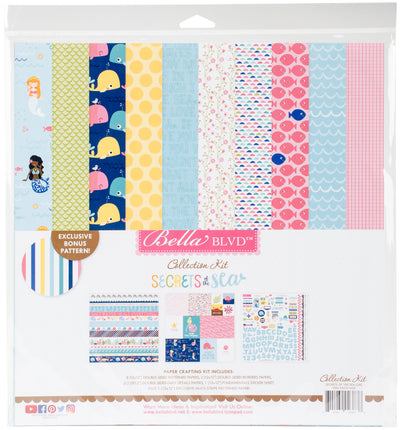 "Bella Blvd Collection Kit 12""X12""-Secrets Of The Sea - Girl"