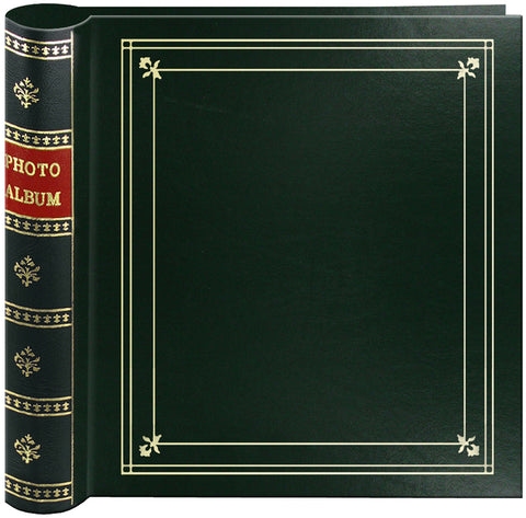 "Pioneer 2-Up Bi-Directional Memo Pocket Photo Album 4""X6""-Hunter Green"