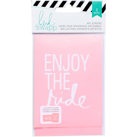 "Heidi Swapp Art Screens/Stencils 3""X4"" 2/Pkg-Enjoy The Ride"