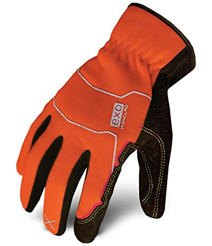 Ironclad EXO-HSO-05-XL Hi-Viz Utility Safety Gloves, X-Large, Orange