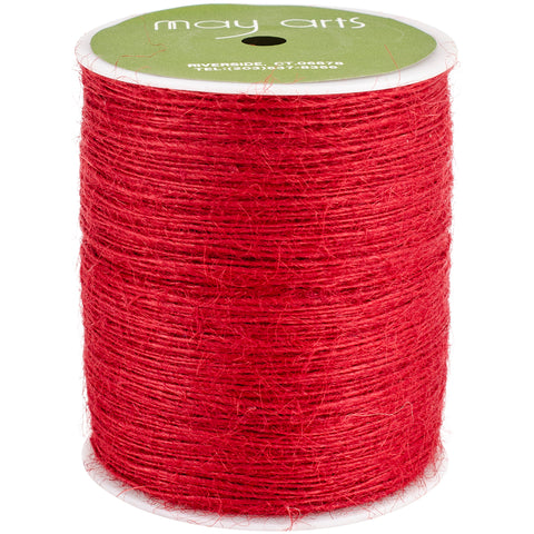 May Arts Burlap String 1mmX400yd-Red