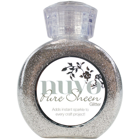 Nuvo Pure Sheen Glitter 3.38oz-Silver