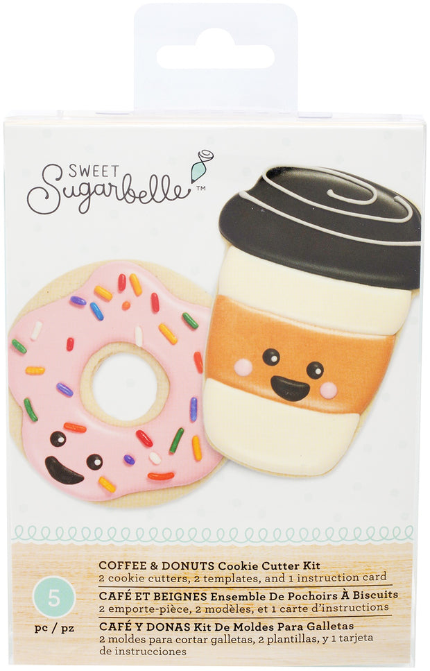Sweet Sugarbelle Cookie Cutter Set 5/Pkg-Coffee & Donuts