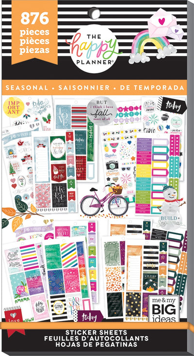 Happy Planner Sticker Value Pack-All In A Season, 876/Pkg