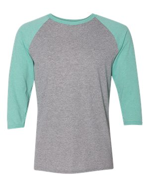 Jerzees. Oxford/ Mint Heather. M. 601RR. 00885306638740