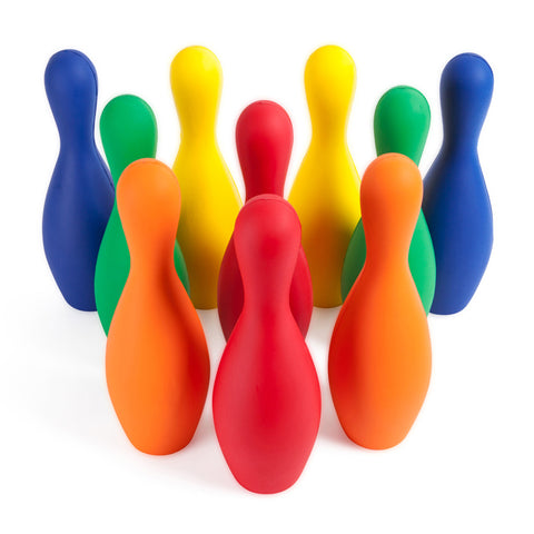 MULTICOLOR FOAM BOWLING PIN SET