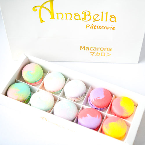 10pcs Marvellous Macarons (Marvellous 1) in Gift Box and Paper Bag