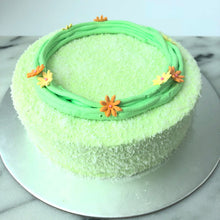 "Macaron Cakes (800g) 8"" -  Pandan with 8pcs Rainbow Macarons (Packed Separately)"