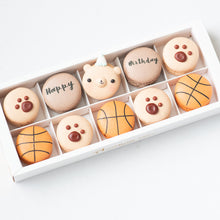10pcs Birthday Boy Macarons in a Gift Box | Complimentary Ribbon and Personalised Message | $38.80 Nett