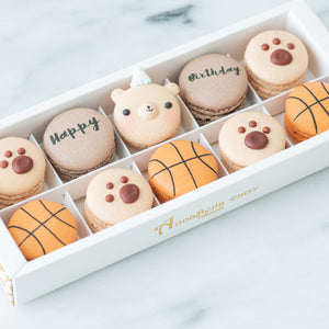 10pcs Birthday Boy Macarons in a Gift Box | Complimentary Ribbon and Personalised Message | $38.80 nett only