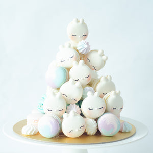 Bunny Macaron Tower |  43pcs Macarons Total in a Tower | Use Code: STAYHOME50 | $138