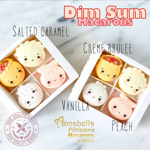 4pcs DIMSUM Macarons in Gift Box | Use Code: STAYHAPPY50 | Special Price S$11.80