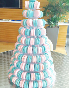10-Tier Grand Macaron Tower (200pcs Classic Macaron) | Includes Free Tower | Grand Luxury Display of Macarons