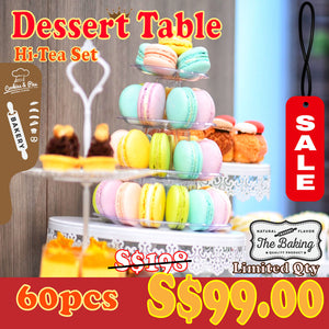 Dessert Table (Party Set) | 20-30 pax | 120 pcs for S$179 | Use Code: STAYHOME50 | Free Delivery