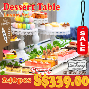 Dessert Table (Banquet Set) | 30-50 pax | 240pcs for S$339 | Use Code: SGCare50 | Free Delivery