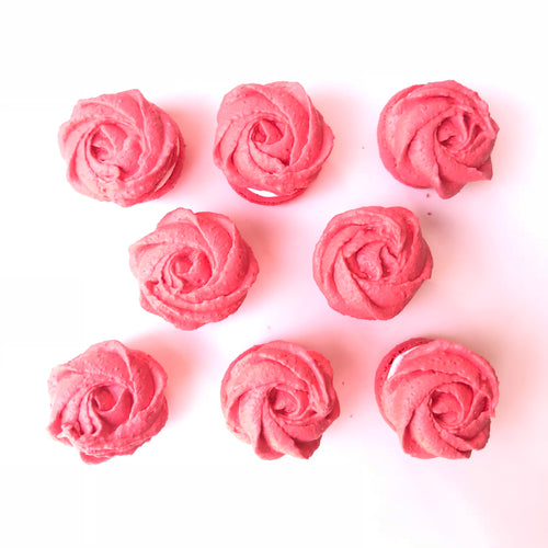 10pcs ROSE-SHAPED Macarons in Gift Box