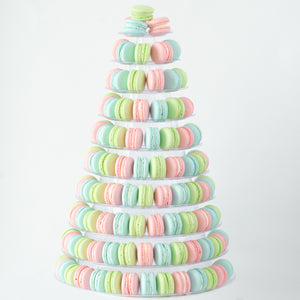10-Tier Grand Macaron Tower (200pcs Classic or Premium Macarons) | Includes Free Tower | Grand Luxury Display of Macarons