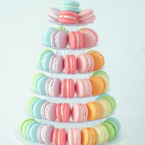 6 Tier Tower (80pcs Classic Macaron) | Includes Free Tower | Simple Self-Assemble | Free Delivery | $168 Nett Only