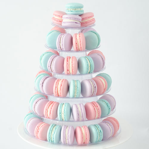6 Tier Tower (80pcs Classic or Premium Macaron) | Includes Free Tower | Simple Self-Assemble | Free Delivery | $198 Nett Only