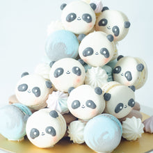 Panda Macaron Tower |  43pcs Macarons Total in a Tower | Use Code: STAYHAPPY50 | $138 Only!