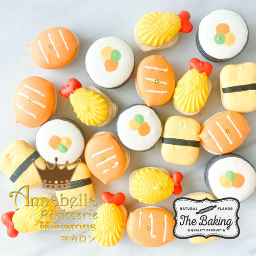 4pcs Sushi Character Macarons in Gift Box  | Use Code: STAYHOME50 | Special Roadshow Price S$11.80