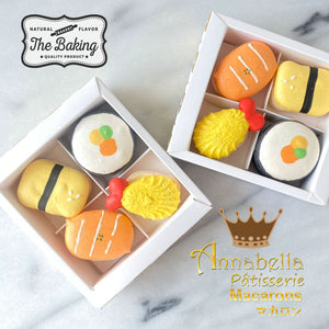 4pcs Sushi Character Macarons in Gift Box  | Special Roadshow Price S$9.90 | Use Code: STAYHOME50