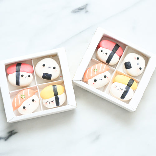 4pcs Kawaii Sushi Macarons in Gift Box  | Use Code: STAYHAPPY50 | Special Price S$12.80