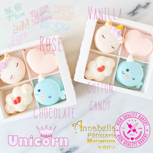 4pcs Unicorn Macaron Gift Box |  50% Off |  1st 100 Orders | Use Code: STAYHAPPY50 | $11.80