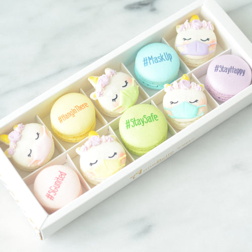 SG Care Series | 10pcs Unicorn Macaron Gift Box | Free Ribbon + Paper Bag | $38.80 Nett