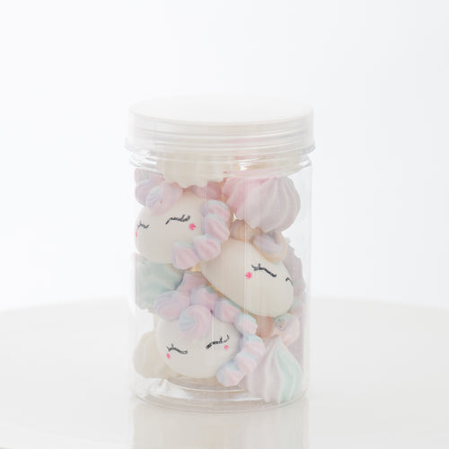 Unicorn Meringue | 1x Container of Meringue with 3pcs Unicorn | Use Code: STAYHAPPY50 | $8.00 Only